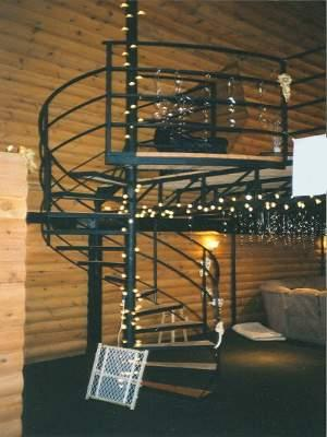 Image of spiral staircase.